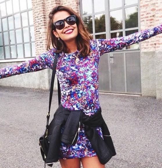 printed dress bodycon dress long sleeve dress