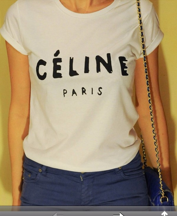 shirt celine paris shirt celine celine paris tee celine paris t shirt t-shirt t-shirt vogue