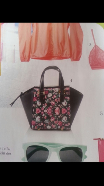 bag blumen colorful flowers