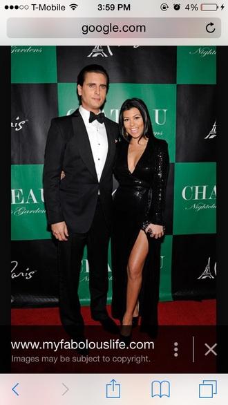 dress black dress kourtney kardashian sparkly dress