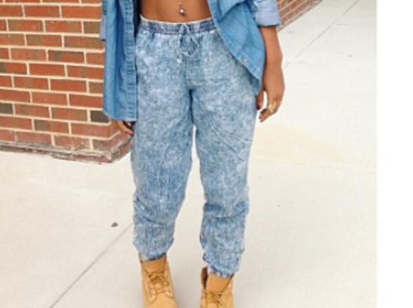 pants acid wash joggers