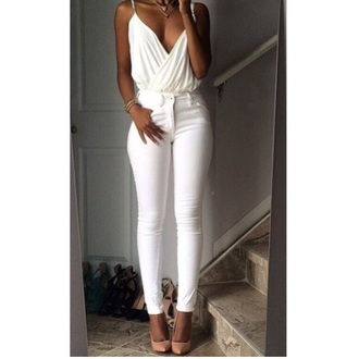 white top all white everything style summer top cute top