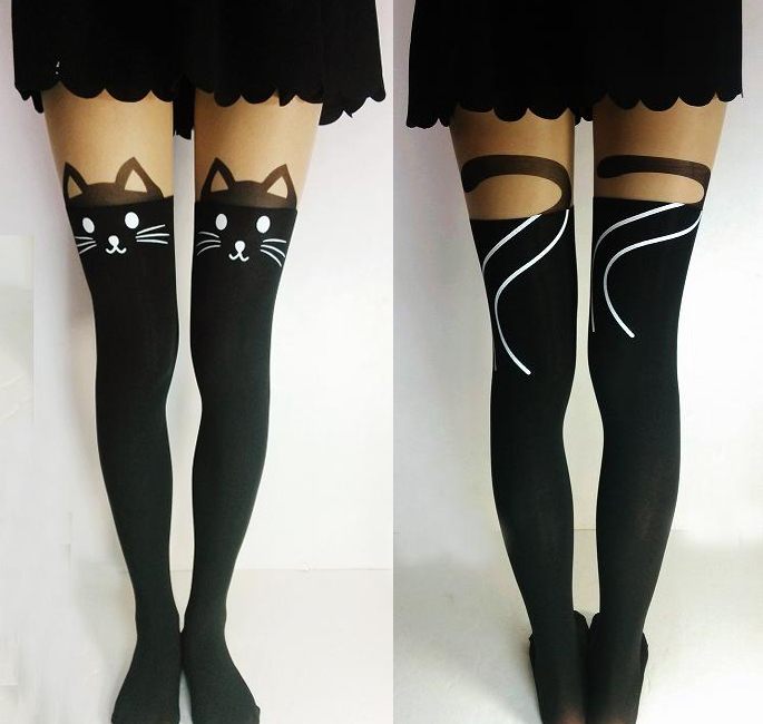 Cat Tails Thigh High Tights from Noirlu on Storenvy