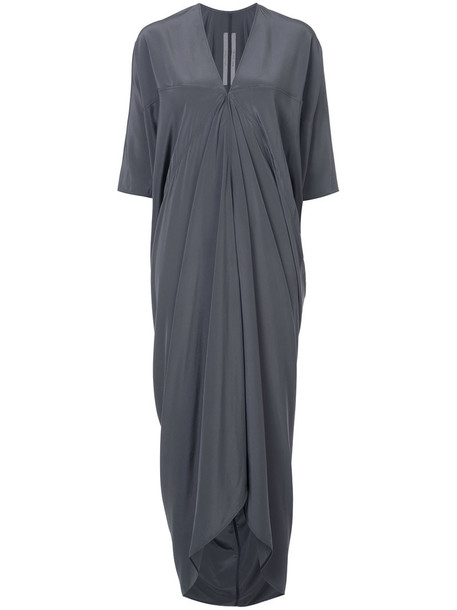 Rick Owens dress wrap dress women silk grey
