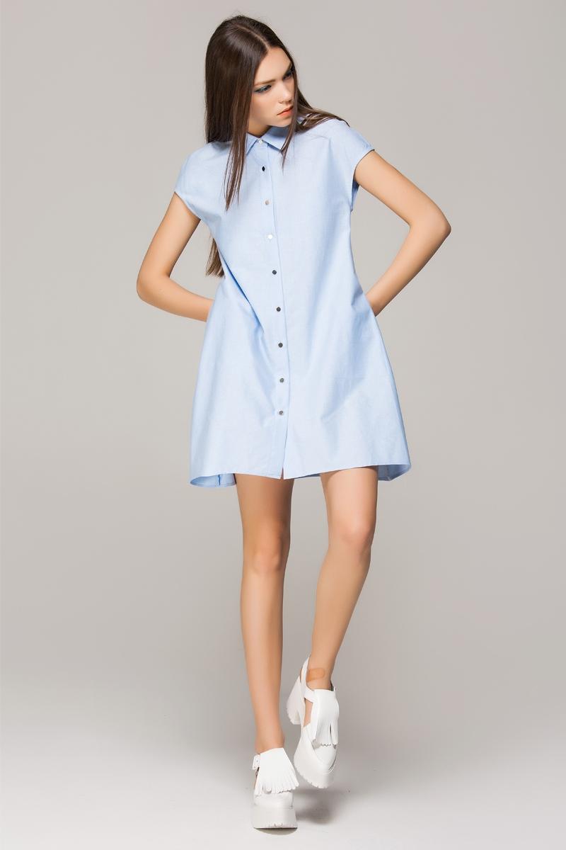 line shirt dress