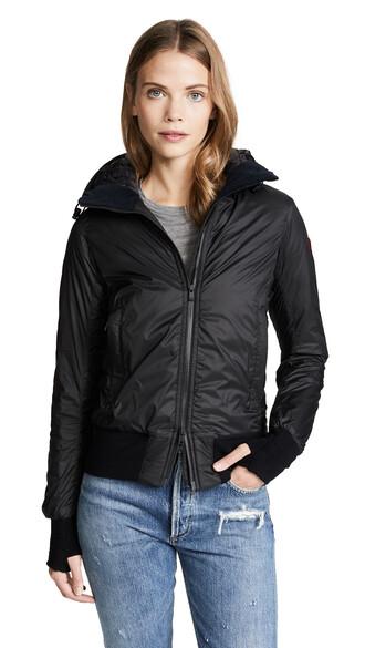 jacket hooded jacket black