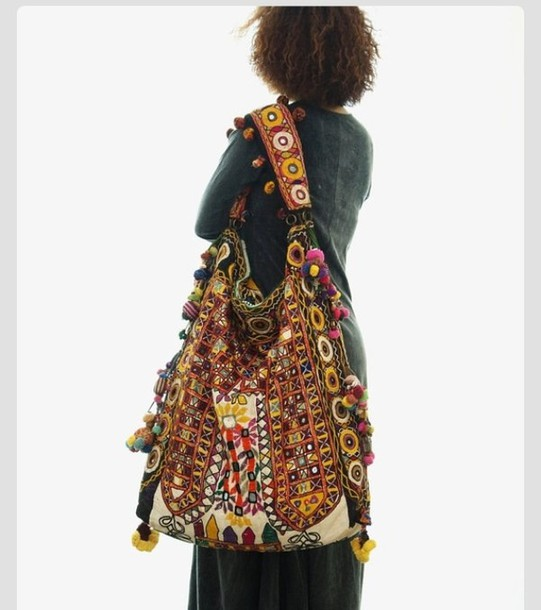 bag purse big colorful boho hipster crazy summer