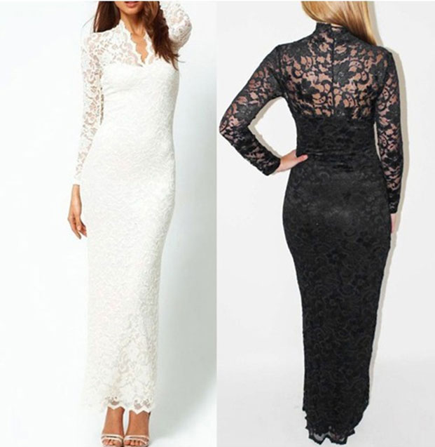 Women Formal Party Full Lace Prom Gown Long Maxi Dress ,Free shipping | Amazing Shoes UK