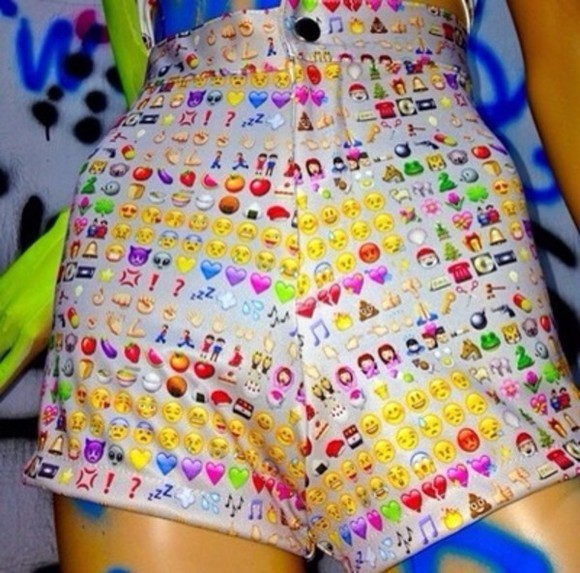 tumblr cool fashion 90's shorts rad emoji ghetto cybr o-mighty weird wtf