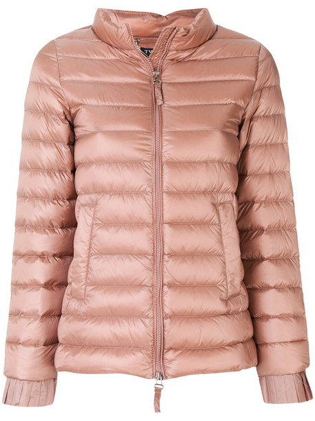Twin-Set jacket puffer jacket feathers women fit nude