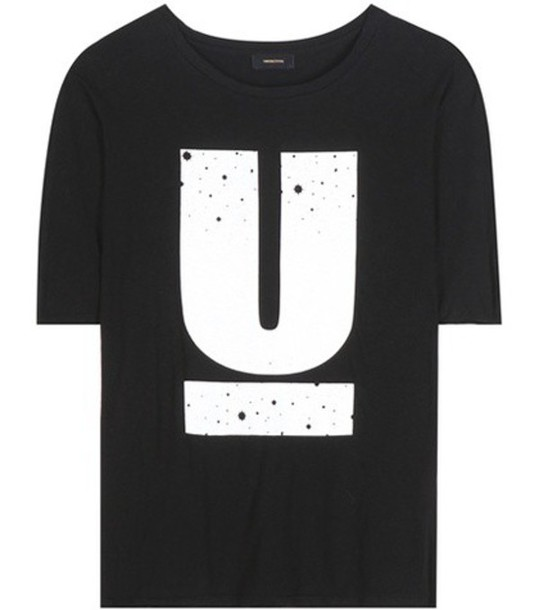 Undercover Printed Cotton T-shirt in black