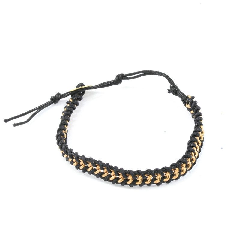 Chain and rope bracelet