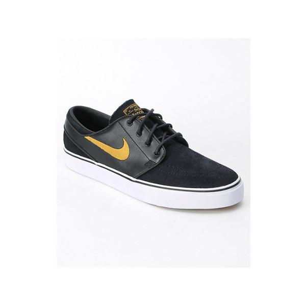 Nike SB Zoom Stefan Janoski Black/Metallic Gold Shoe - Polyvore