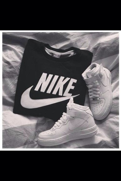 shirt sweater sweatshirt nike simple casual brands cotton shoes