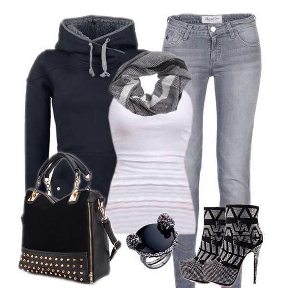 jacket bag scarf