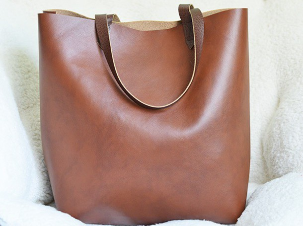 Bag: leather, tote bag, leather tote bag, purse, bags and purses ...