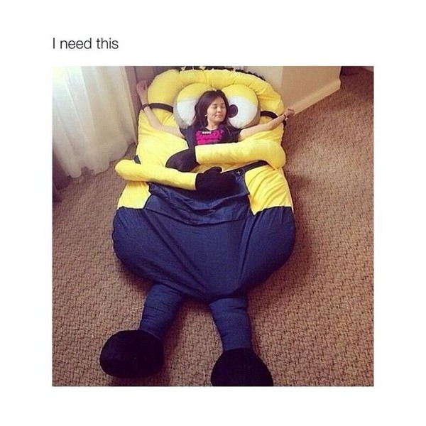 Funny Despicable Me Minions Sleeping Bag Sofa Bed Twin Bed
