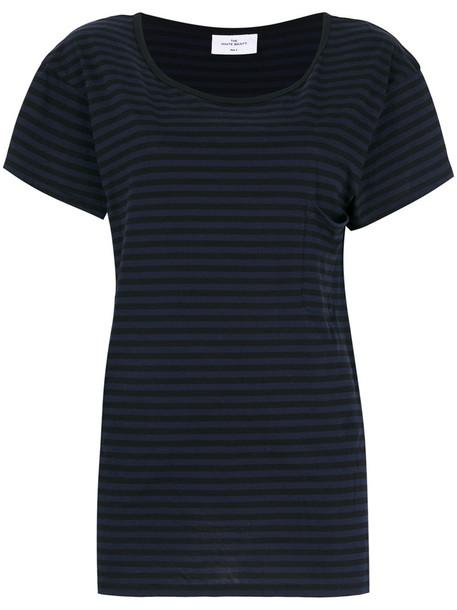 The White Briefs t-shirt shirt t-shirt paris women cotton blue top