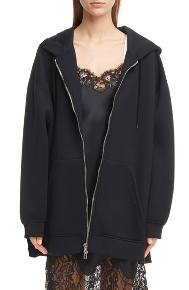 Givenchy Logo Neoprene Hoodie | Nordstrom