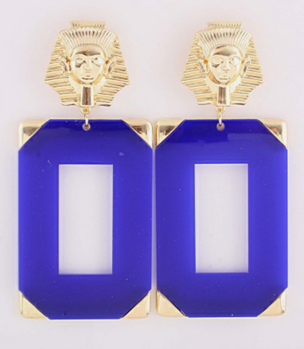 Blue and Gold King Tut earrings