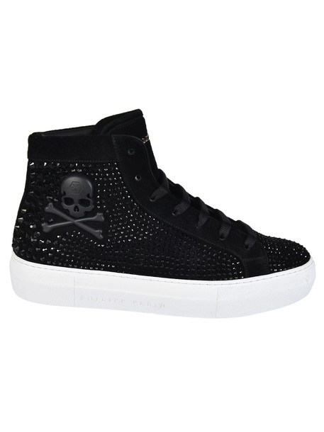 PHILIPP PLEIN skull studded embellished sneakers shoes