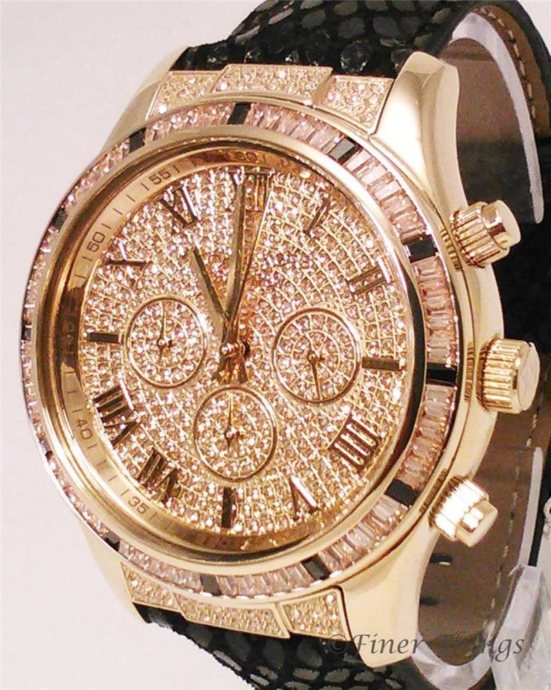 Kors layton gold tone glitz crystal black leather watch mk2310 michael kors layton gold tone glitz crystal black leather watch mk2310 msrp 350 ebay gumiabroncs Choice Image