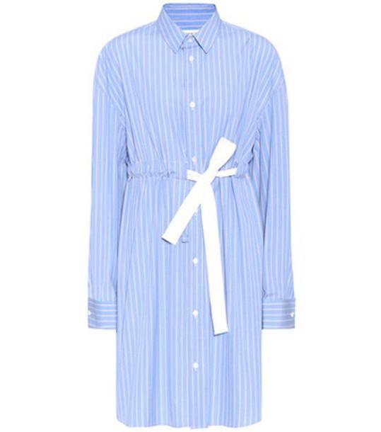 dress shirt dress cotton blue