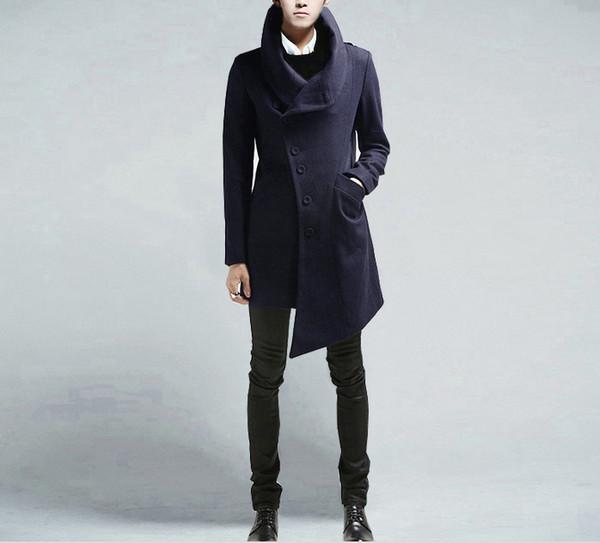 british style irregular woolen british style shirt