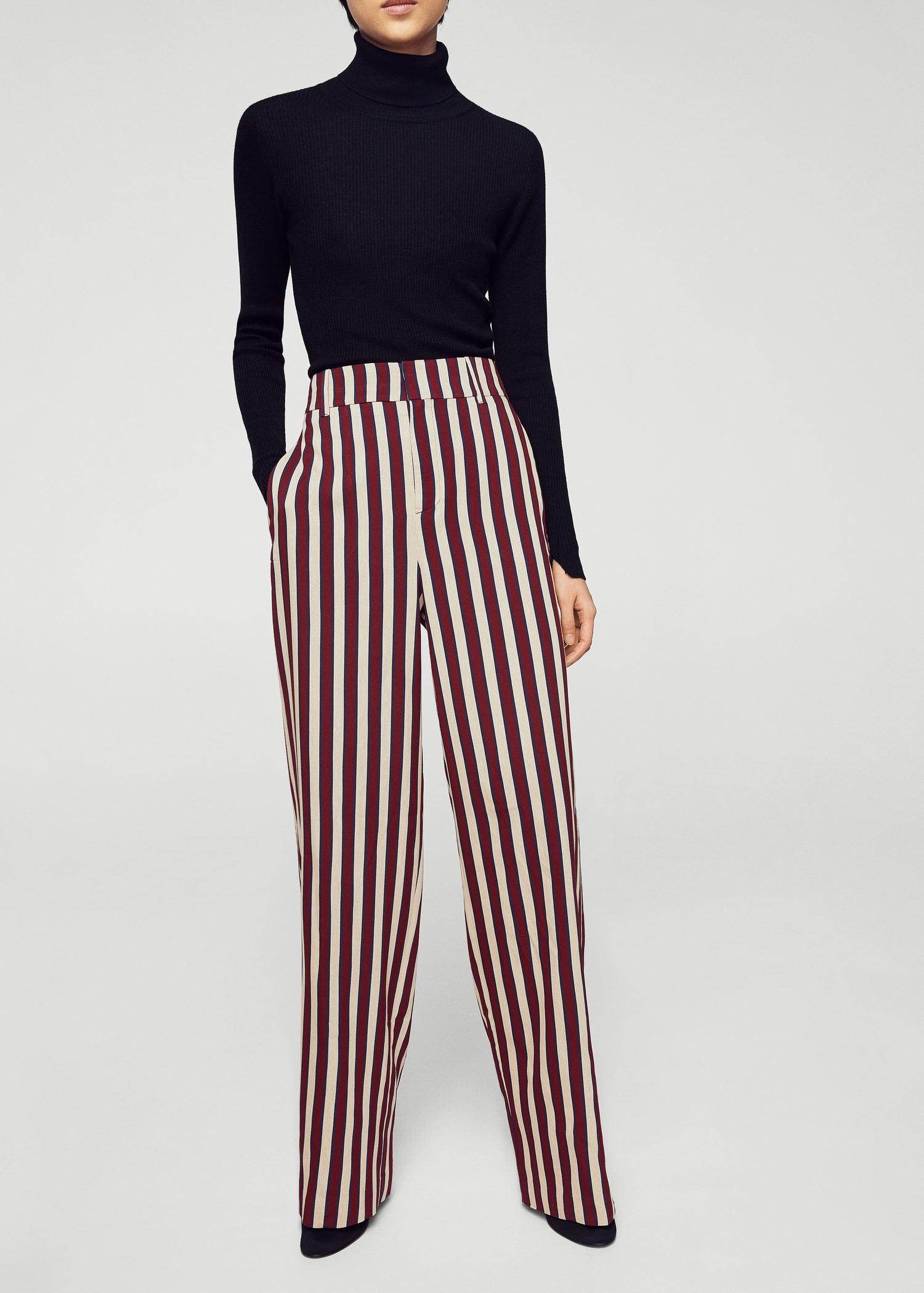 Pantaloni palazzo righe Donna | MANGO Italia