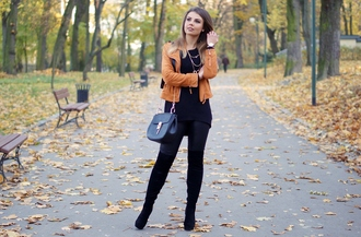 a piece of anna blogger jacket sweater pants shoes bag jewels