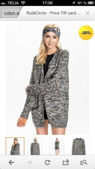 grey sweater knitted cardigan oversized cardigan dark grey