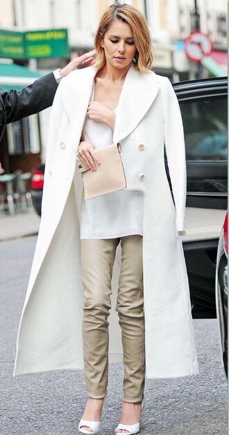 coat pants sandals clutch cheryl cole bag