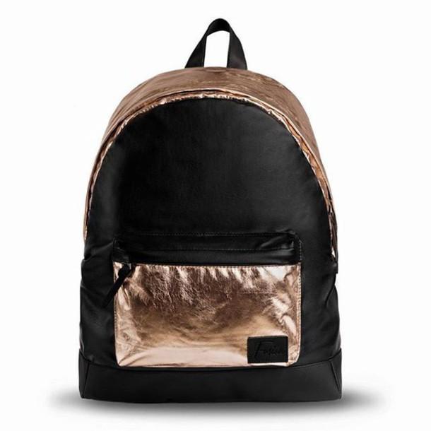 b9a0e9fe8b bag gold gold golden backpack gold backpack black and gold backpack backpack  chandon champagne backpack champagne