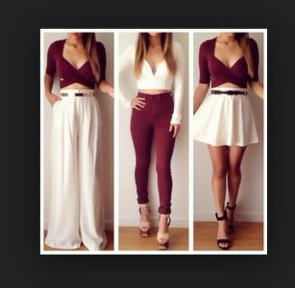 jeans burgundy twist tight skinny highwaisted