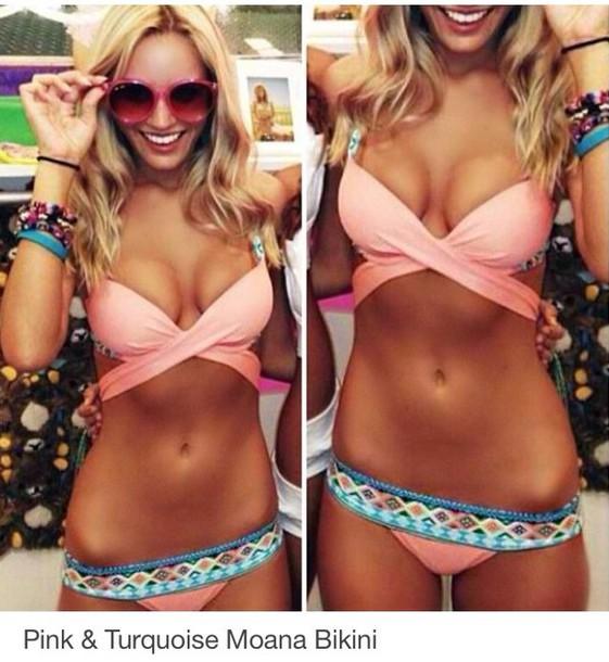 swimwear bikini pink