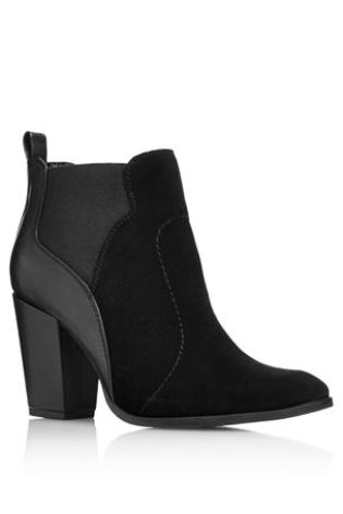 Buy black suede mix ankle boots from the next uk online shop