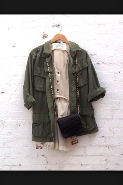 jacket khaki jacket gilet kakii