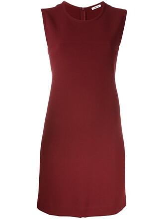 dress women spandex wool red