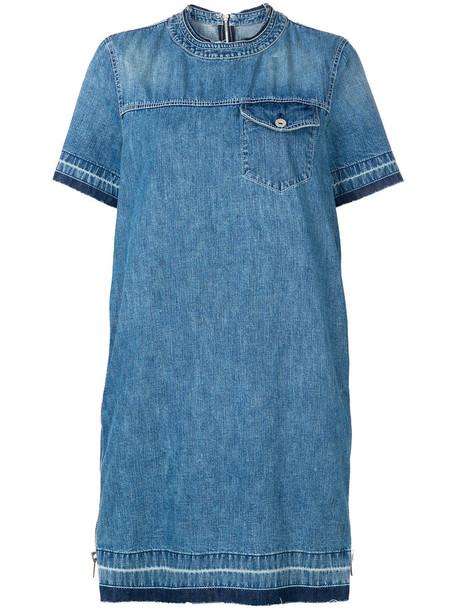 Sacai dress shirt dress t-shirt dress denim women cotton blue