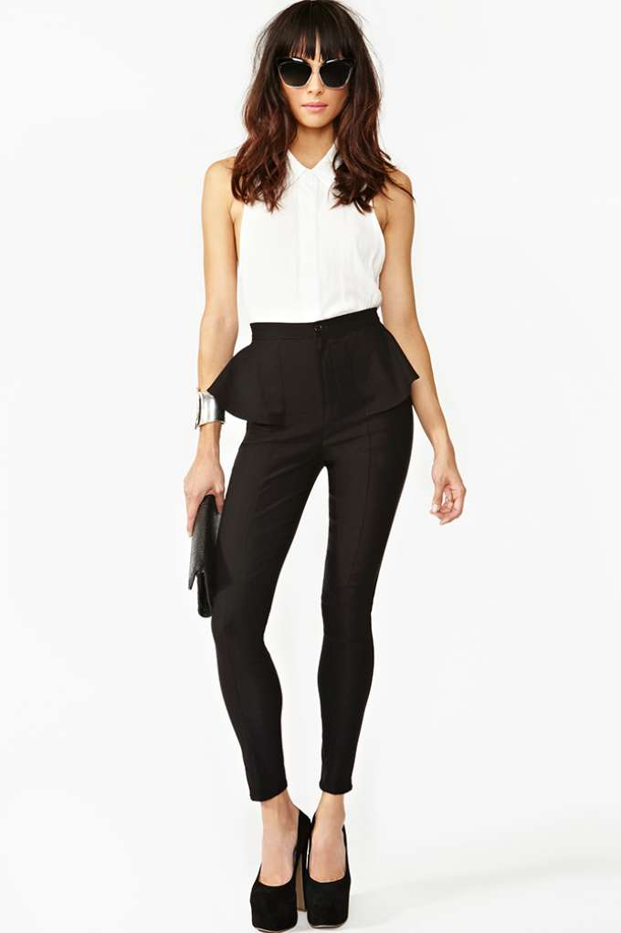 Peplum Skinny Pant | Shop Back In Stock at Nasty Gal