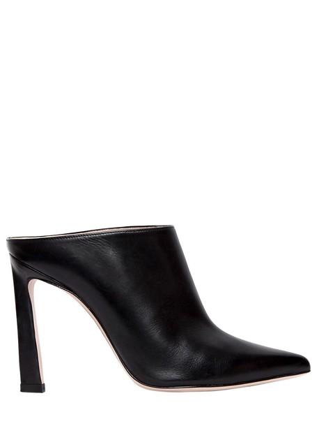 STUART WEITZMAN 90mm Camila Leather Mules in black
