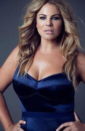 dress,fiona falkiner,model,curvy,plus size,blue dress