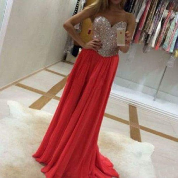 dress prom dress prom gown evening dress beading prom dress beaded dress