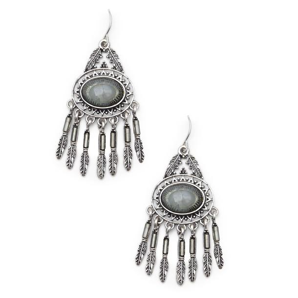 Sole Society Sante Fe Earrings  - Silver-One Size