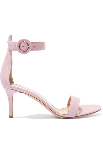 baby sandals suede pink baby pink shoes