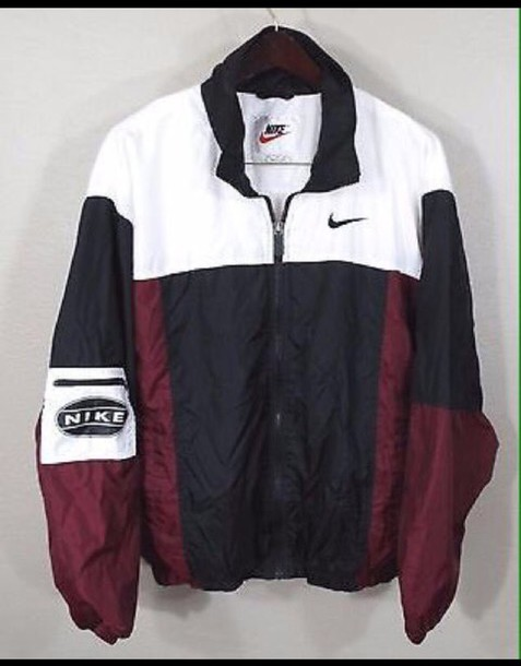 Jacket Nike Old School Black And White Colorblock Nike