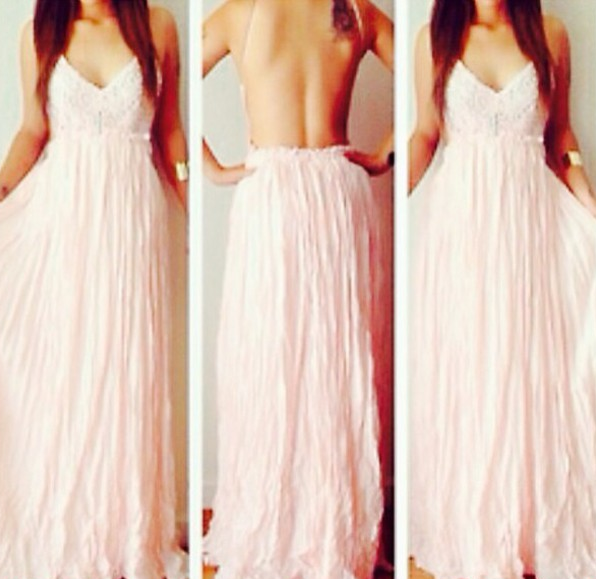 Elegant Bohemia Embroidery Lace Pleated Dress