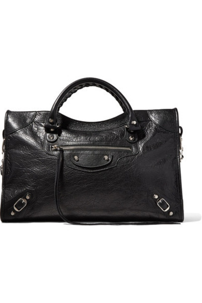 classic leather black bag