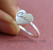 jewels,signature ring,gift ideas,handwiring ring,jewelry,heart jewelry,engraved rings,handmade weddings,handmade jewels