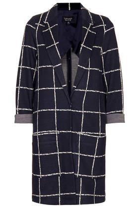 Check Print Throw On Coat - Jackets & Coats  - Clothing  - Topshop USA